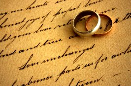 Anniversary Poem with Wedding Rings