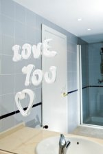 picture of romantic message on mirror